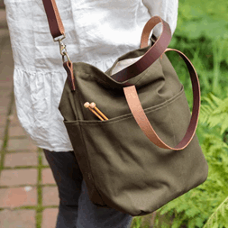 Twig&Horn Crossbody Project Canvas Tote