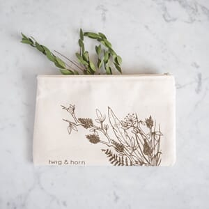 Twig & Horn Illustrated Zip Pouch