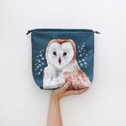 The Blue Rabbit House Project Bag - Oliver Owl