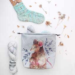 The Blue Rabbit House Project Bag - Emily Mouse