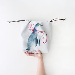 The Blue Rabbit House Project Bag - Penny Pinguin