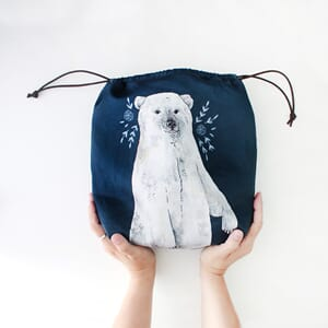 The Blue Rabbit House Project Bag - Boris Polar Bear