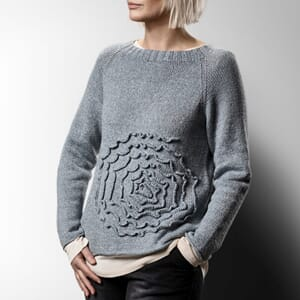 Sanne Fjalland Rosette sweater oppskrift