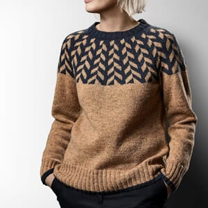 Sanne Fjalland Herringbone sweater kit