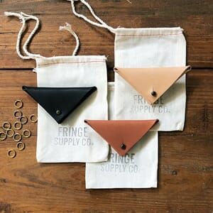 Fringe Supply Leather Stitch Marker pouch