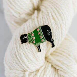 K2TOG Club Sheep Sweater pin - Holiday Sweater