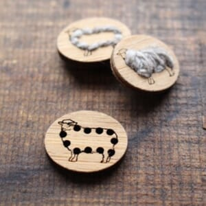Katrinkles Stitchable Sheep Button