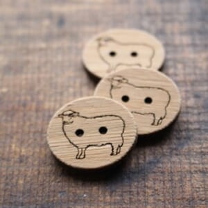 Katrinkles Sheep Button